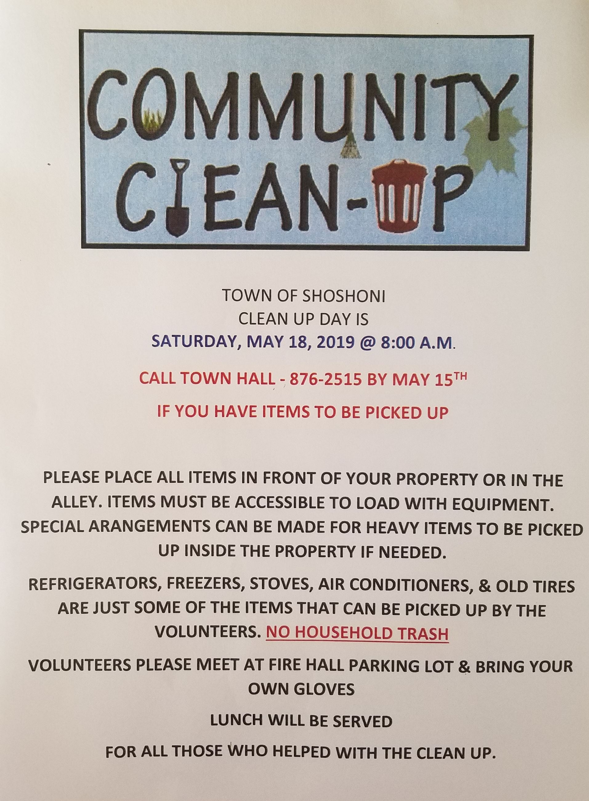 Town Clean Up Flyer