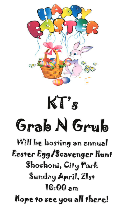 KT's Easter Egg Hunt Flyer