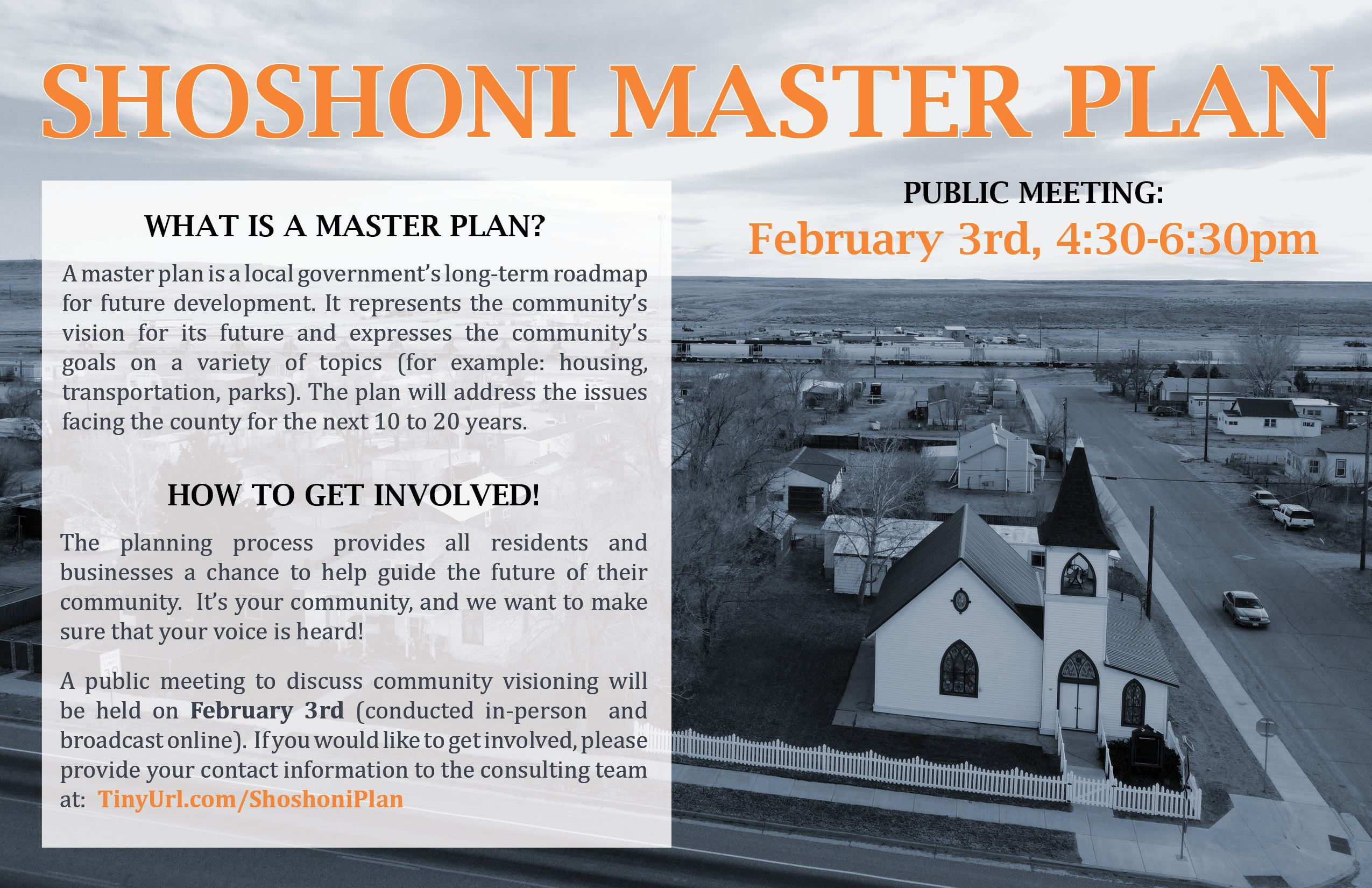 Shoshoni Announcement flyer-poster