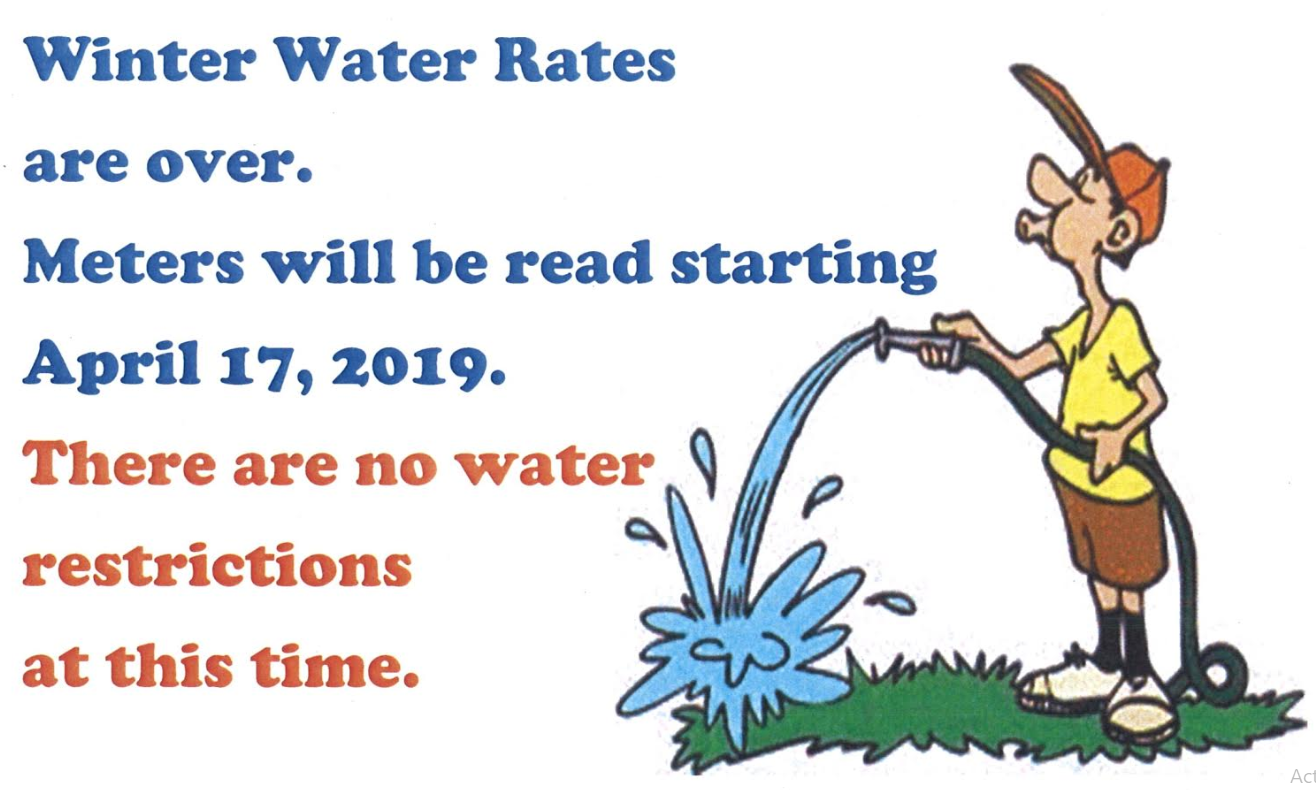 Winter Water Rates Gone Flyer